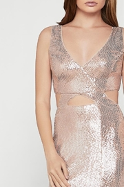 BCBG MAXAZRIA Metallic Cut-out Gown with Slit - Front full body