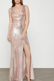 BCBG MAXAZRIA Metallic Cut-out Gown with Slit - Product Mini Image
