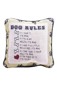 Eve & Nico Dog Rules Pillow - Product List Image