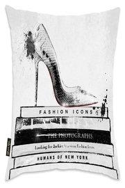 Eve & Nico Fashion Icons Throw Pillow - Product Mini Image