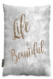 Eve & Nico Life Is Beautiful Pillow - Product Mini Image