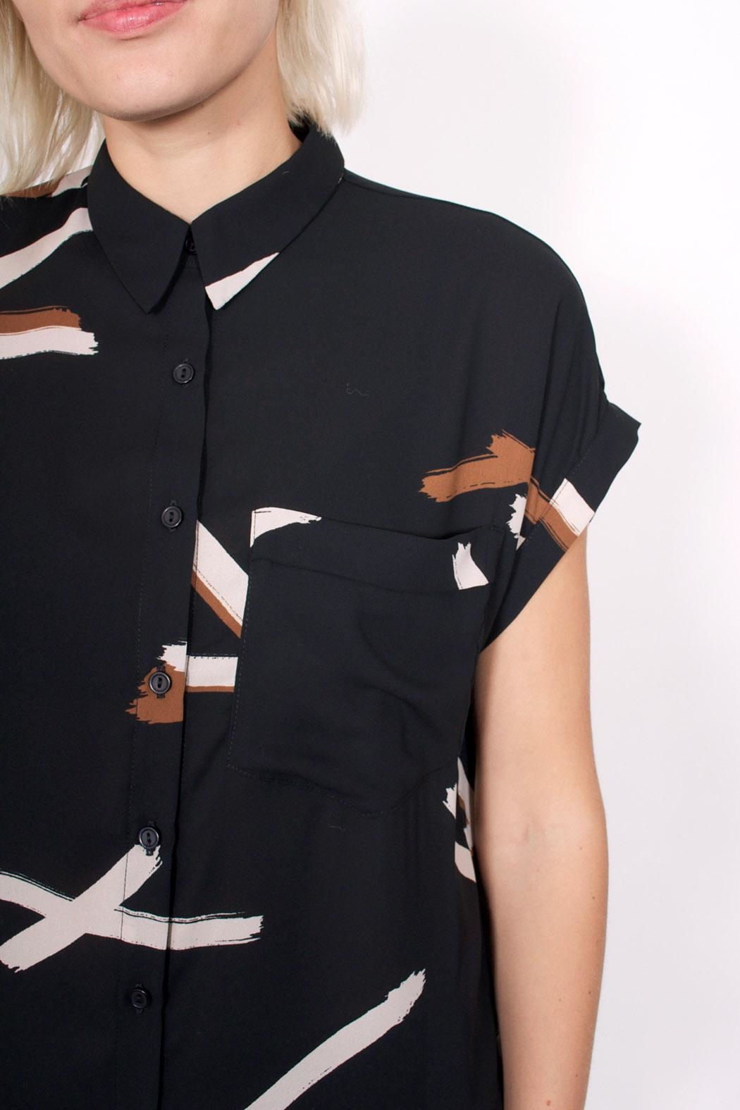 Eve Gravel Perfect Day Blouse - Back Cropped Image