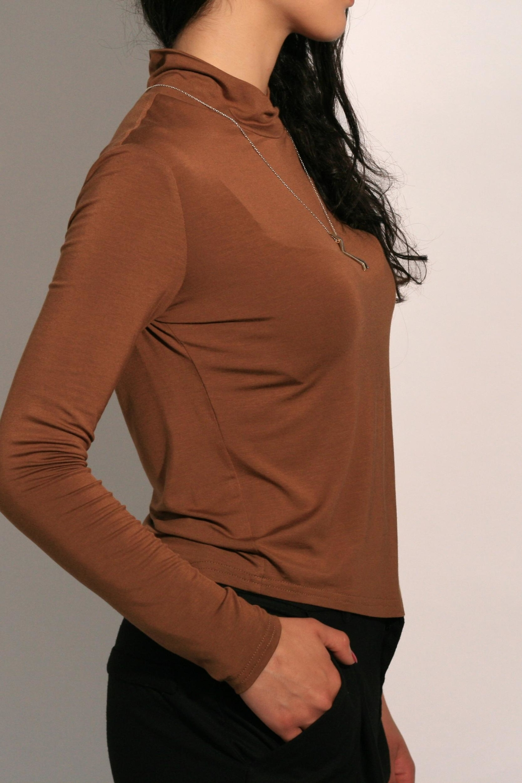Eve Gravel Sagan Turtleneck - Front Full Image