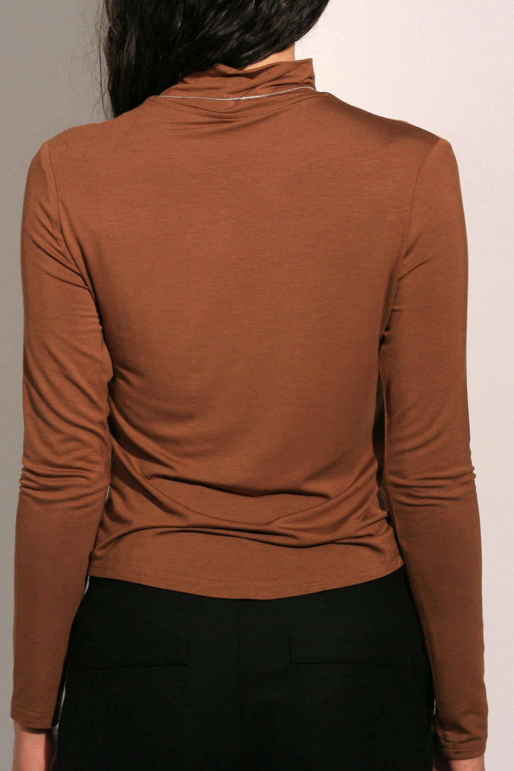 Eve Gravel Sagan Turtleneck - Side Cropped Image