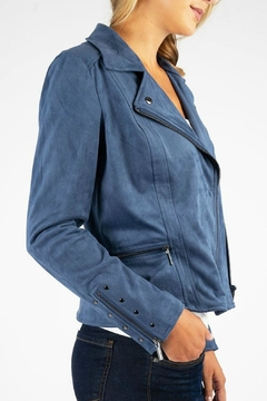 Kut from the Kloth Eveline Vegan-Suede Moto-Jacket - Alternate List Image