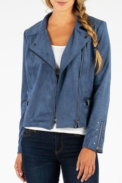 Kut from the Kloth Eveline Vegan-Suede Moto-Jacket - Product List Image