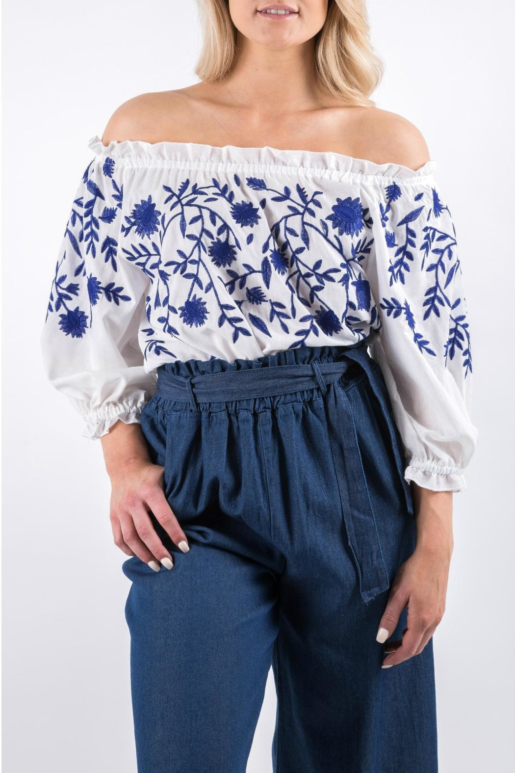 Yuki Tokyo Evelyn Embroidered Top - Front Full Image