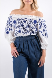 Yuki Tokyo Evelyn Embroidered Top - Front full body