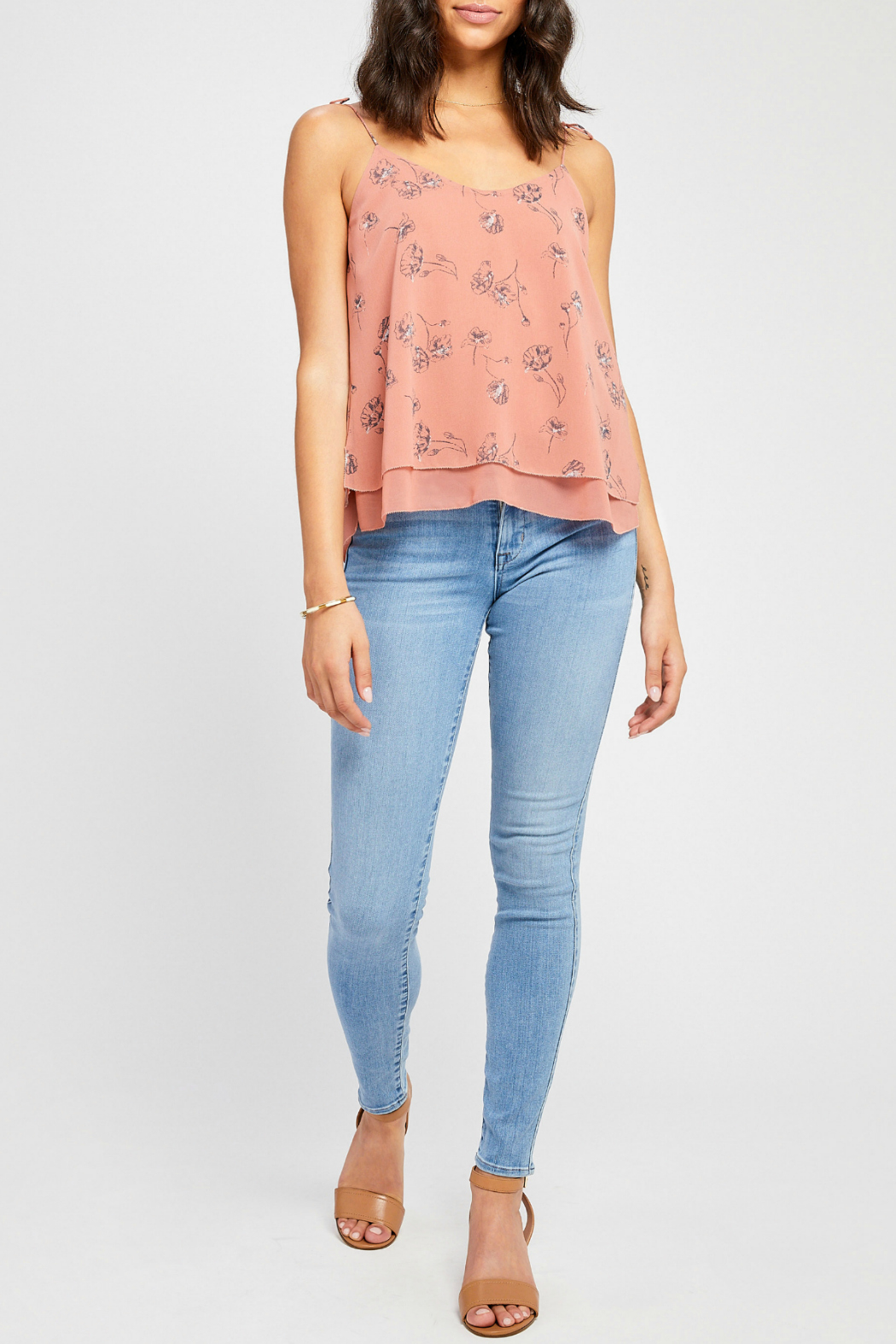 Gentle Fawn Evelyn lined tank w shoulder ties - Main Image