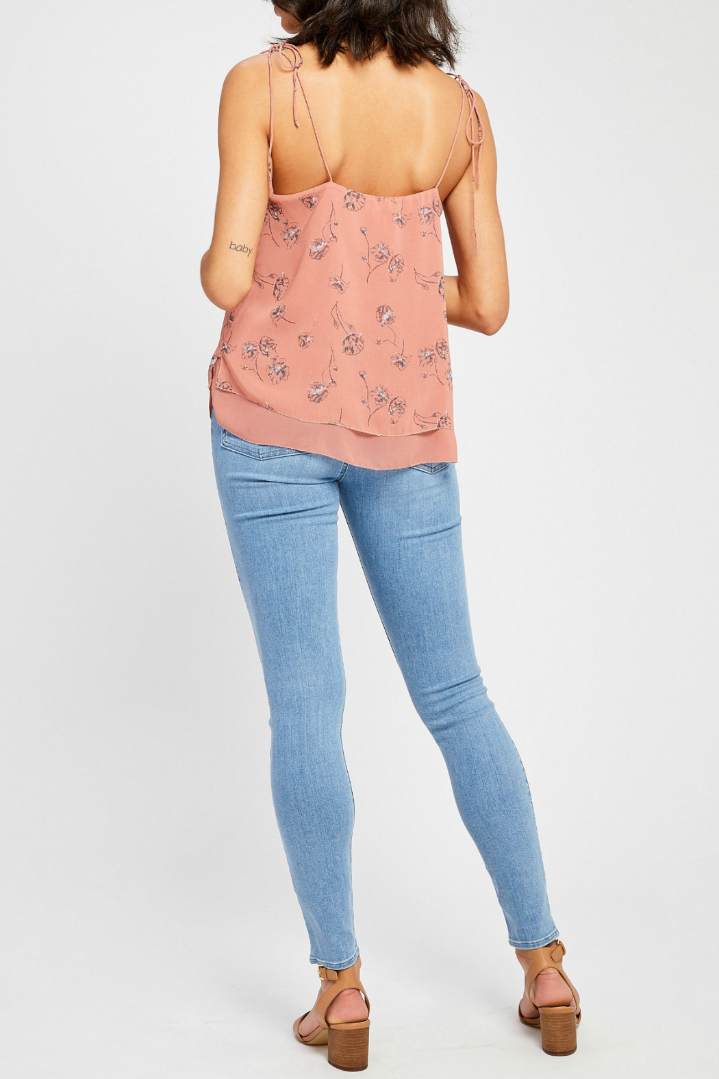 Gentle Fawn Evelyn lined tank w shoulder ties - Side Cropped Image