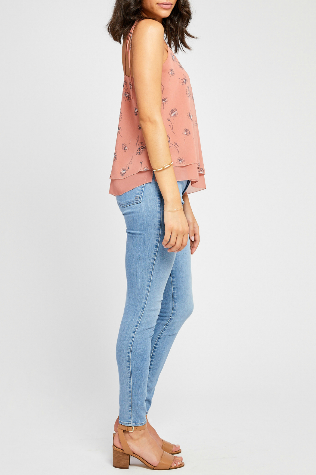 Gentle Fawn Evelyn lined tank w shoulder ties - Front Full Image