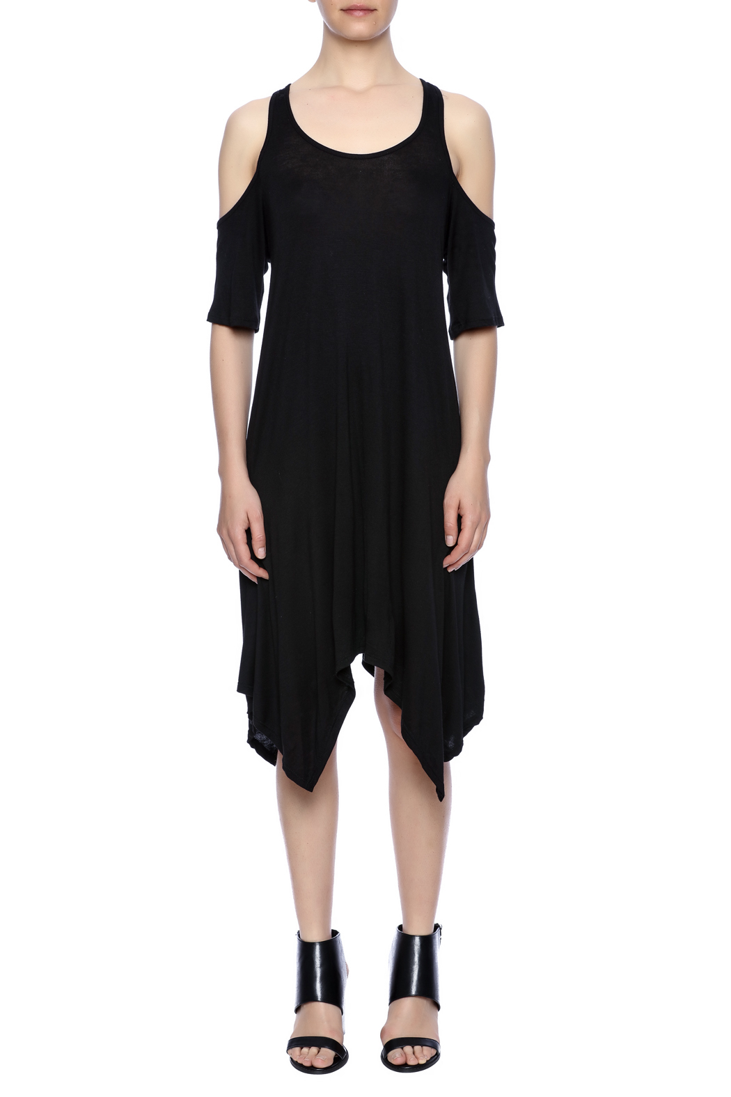 Event Black Cut-Out Dress - Front Cropped Image