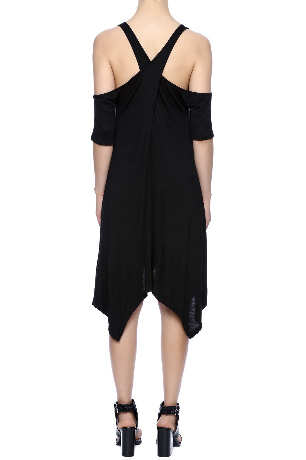 Event Black Cut-Out Dress - Back Cropped Image