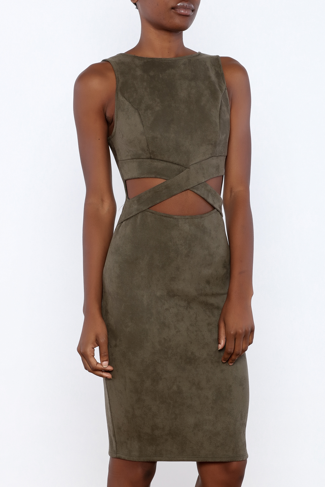 116da54d47 Event Faux Suede Cutout Dress from New Orleans by All About Me ...