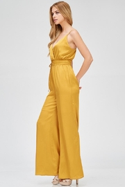 Evenuel Mustard Satin Jumpsuit - Other