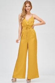 Evenuel Mustard Satin Jumpsuit - Back cropped