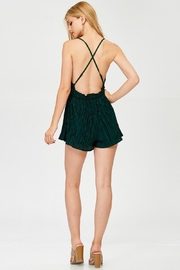 Evenuel Solid Crinkle Romper - Other