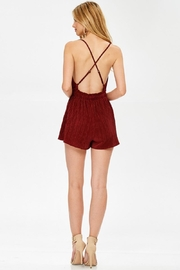 Evenuel Solid Crinkle Romper - Back cropped