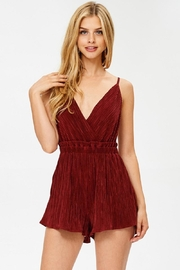 Evenuel Solid Crinkle Romper - Front cropped