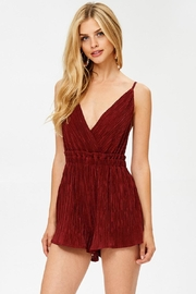 Evenuel Solid Crinkle Romper - Front full body