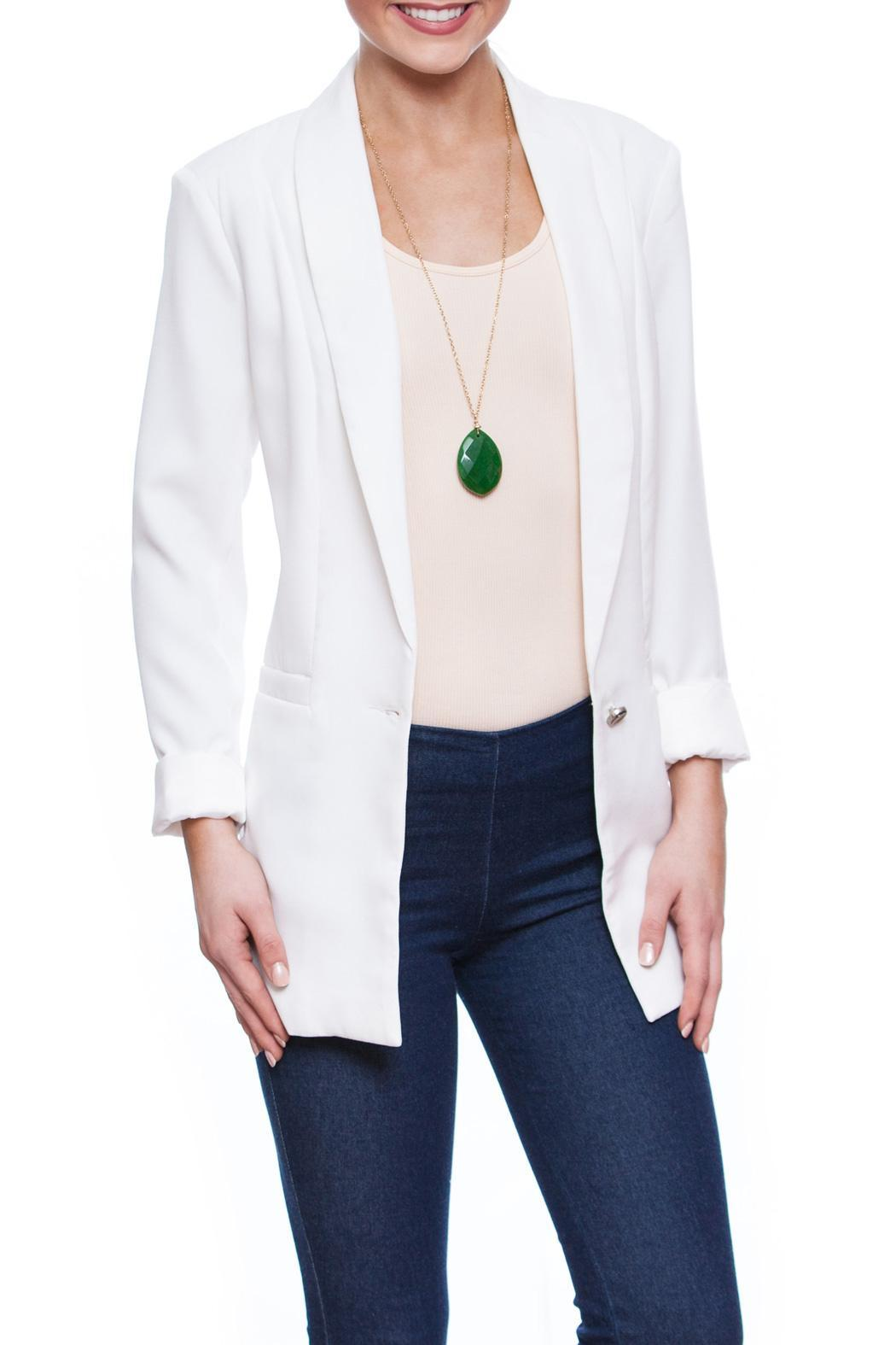 Evenuel White Boyfriend Blazer from South Carolina by Current ...
