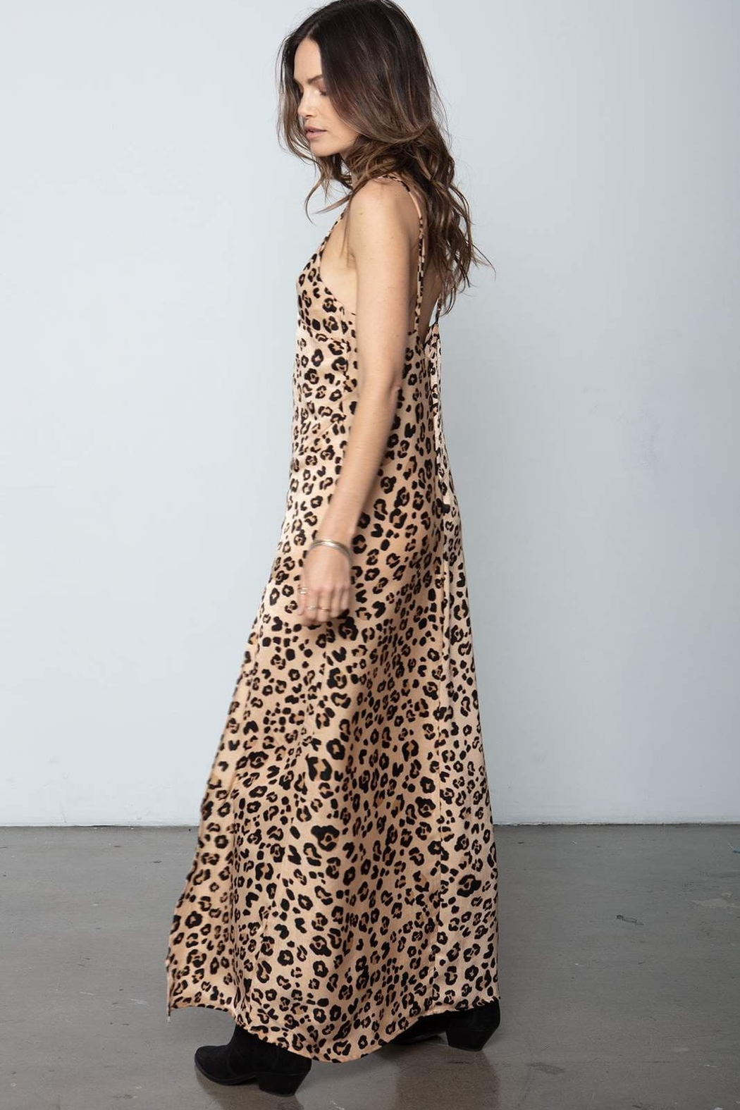 Stillwater Ever Thine Leopard Maxi Slip - Side Cropped Image