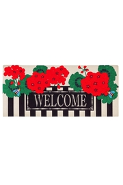 Evergreen Enterprises Geranium Welcome Mat - Front cropped