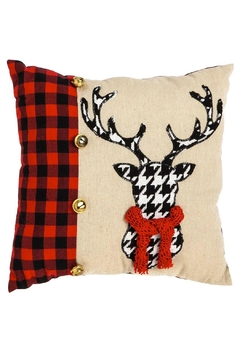 Shoptiques Product: Houndstooth Deer Pillow