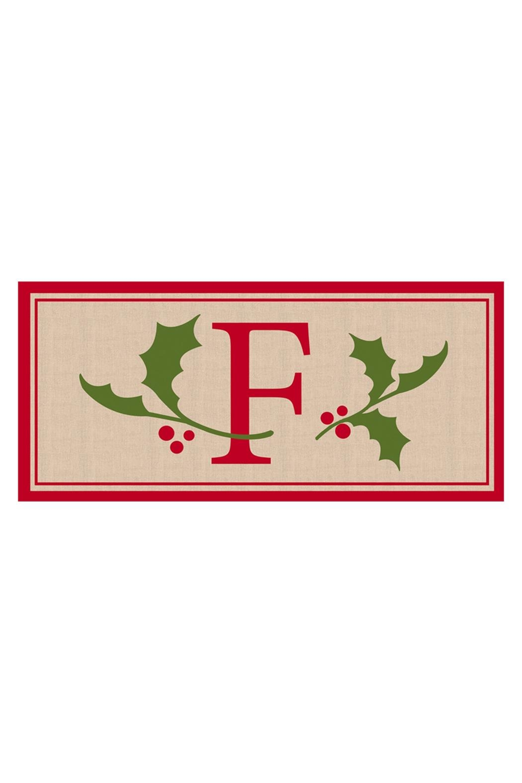 Evergreen Enterprises Monogram F Mat - Front Cropped Image