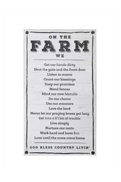 Evergreen Enterprises The Farm Sign - Product List Image