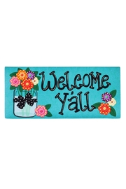 Evergreen Enterprises Welcome Y'all Mat - Front cropped