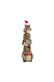 Evergreen Enterprises Winter Owl Totem - Front cropped
