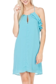 Everly Aqua Racer Back Dress - Product Mini Image