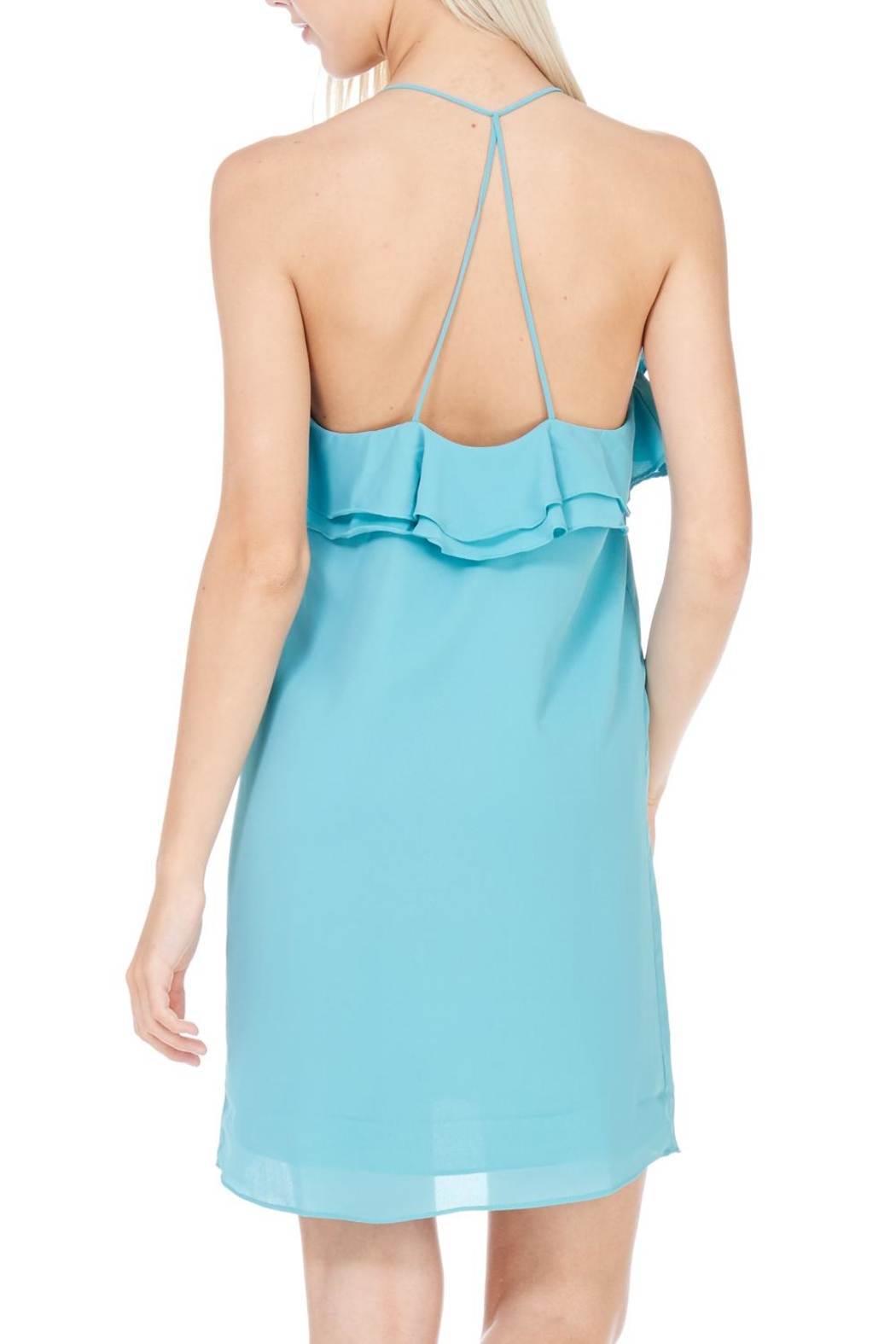 Everly Racerback Lined Dress - Back Cropped Image