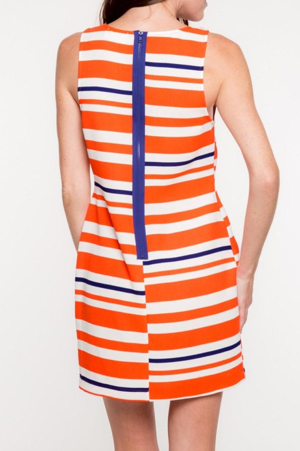 Everly Auburn Shift Dress - Side Cropped Image
