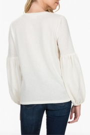 Everly Balloon Sleeve Top - Front full body