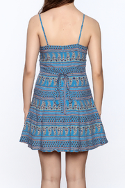 Everly Blue Bandana Sleeveless Dress - Back cropped