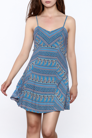 Everly Blue Bandana Sleeveless Dress - Main Image