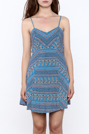 Everly Blue Bandana Sleeveless Dress - Side cropped