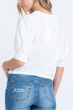 Everly Barley Buttoned Top - Alternate List Image