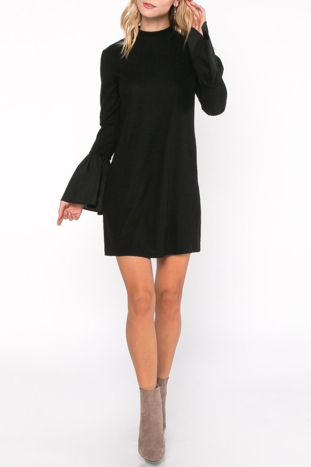 Everly Bell Sleeve Dress - Side Cropped Image