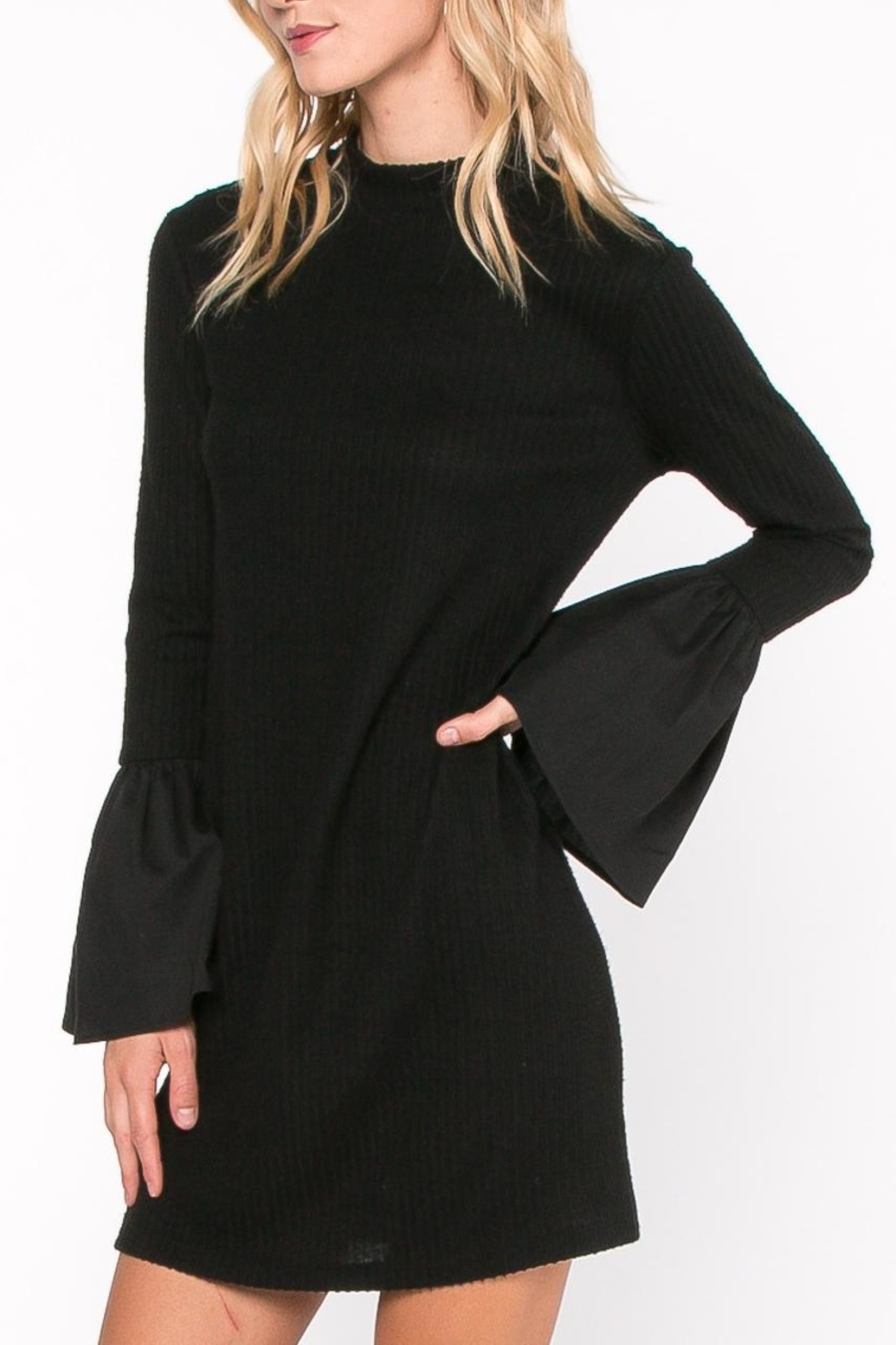 Everly Bell Sleeve Dress - Front Full Image