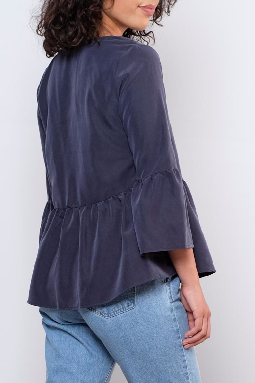 Everly Bellsleeve Peplum Top - Side Cropped Image