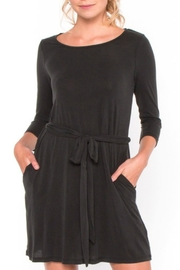 Everly Black Longsleeve Dress - Product Mini Image
