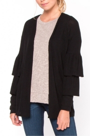 Everly Black Ruffle Cardigan - Product Mini Image