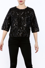 Everly Black Sequin Top - Product Mini Image