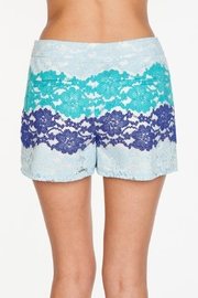 Everly Blue Lace Shorts - Side cropped