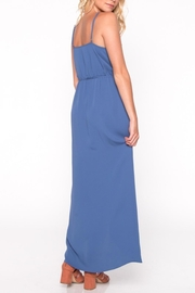 Everly Blue Ruffle Maxi Dress - Side cropped