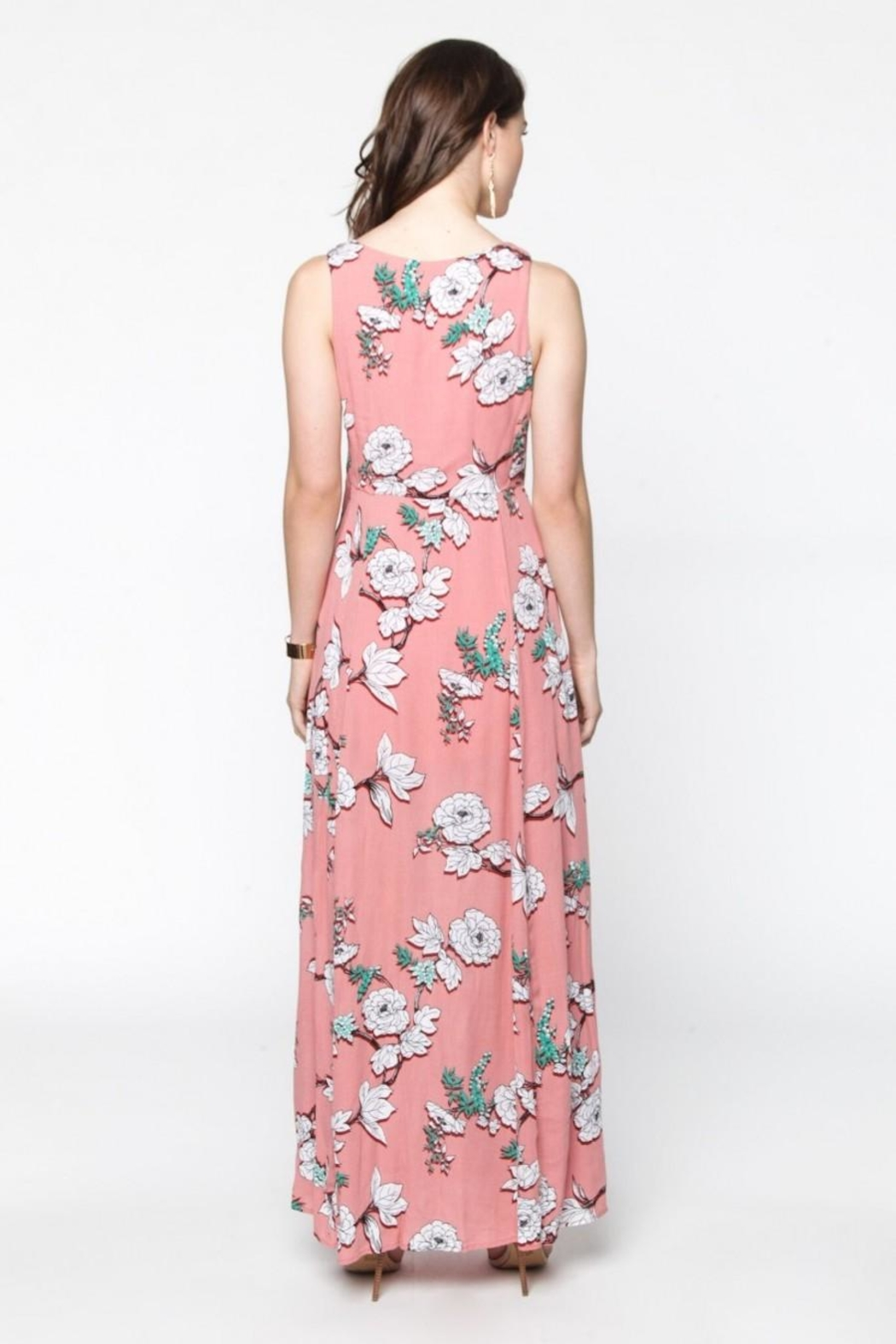 Everly Blushing Coral Maxi - Side Cropped Image