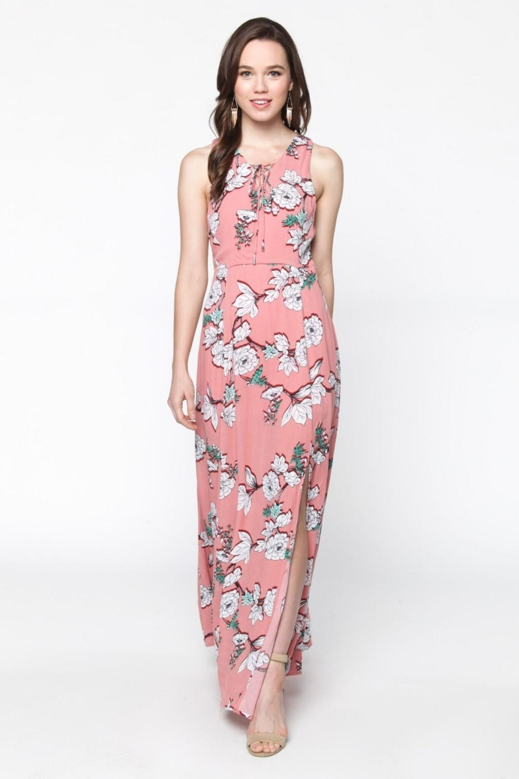 Everly Blushing Coral Maxi - Front Full Image